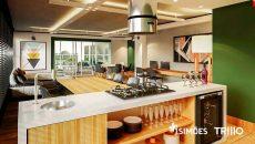 Cozinha Sky Lounge Compartilhada