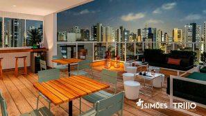 Rooftop Sky Lounge com espaço Gourmet
