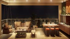Sky lounge para receber os amigos